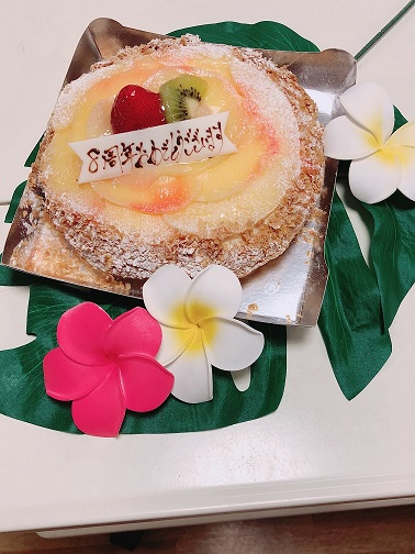 マルちゃんお祝いケーキありがとう!