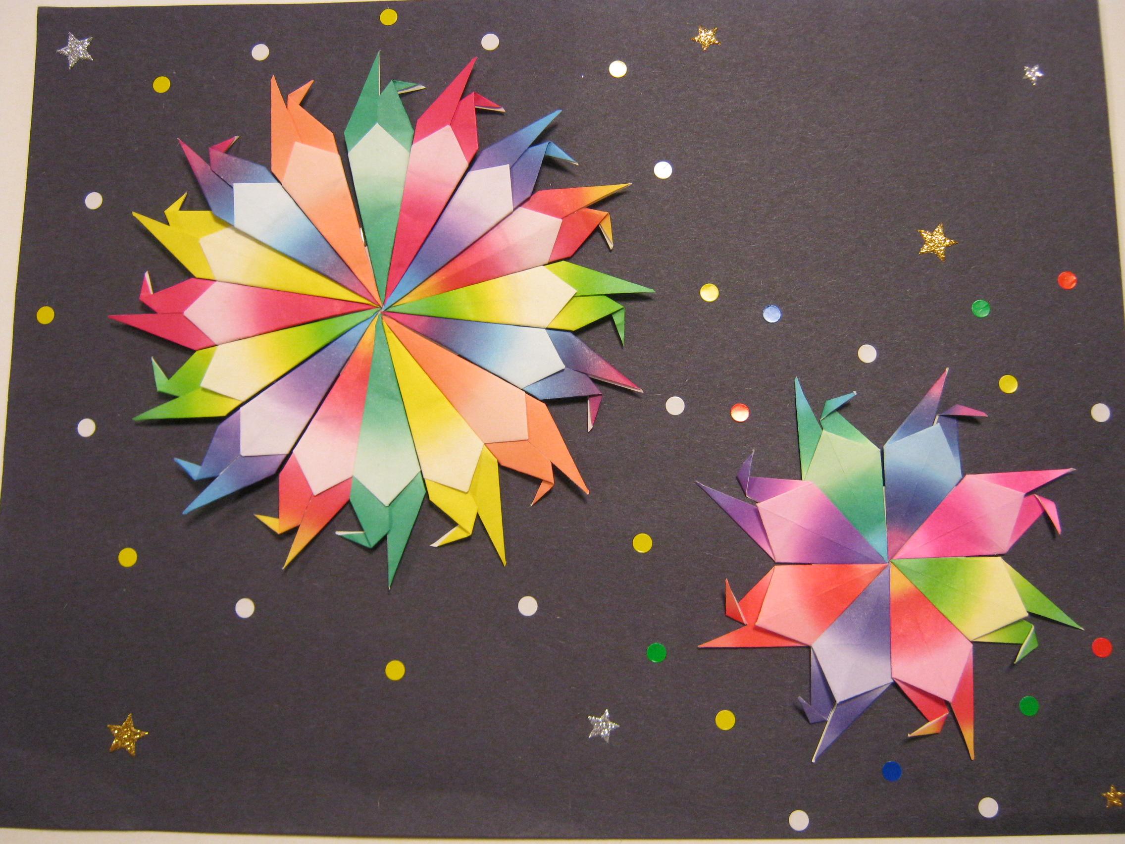 すべての折り紙 夏の折り紙 簡単 : みんなが作ったこの花火なら ...